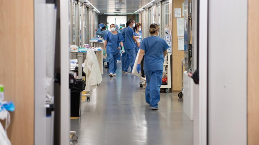 El Hospital Clínic de Barcelona, el pasado lunes 30 de marzo.