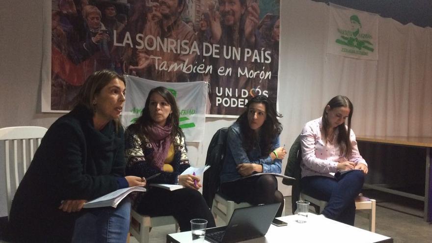 Begoña Gutiérrez en campaña