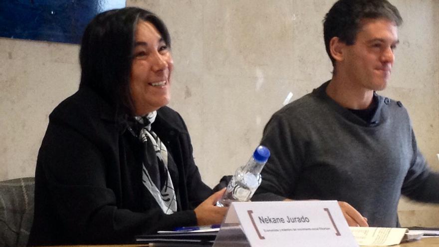 La economista Nekane Jurado en un momento de su intervención.