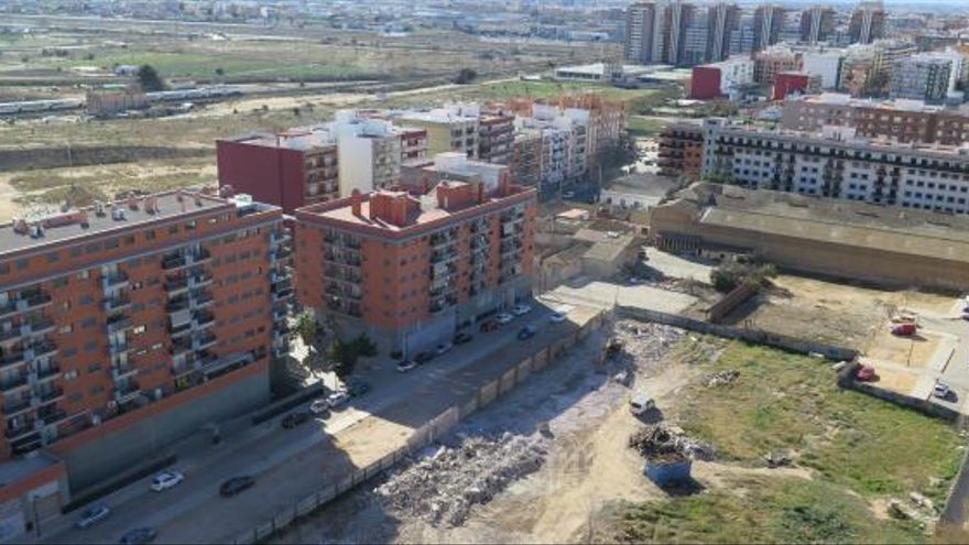 Vista de una parte del barrio de Sant Marcel·lí