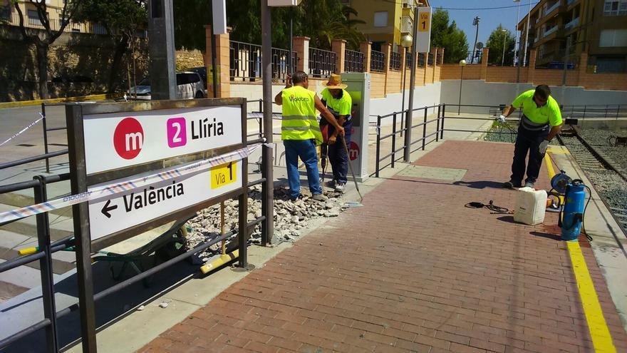 Obras de accesibilidad en la estación de Llíria