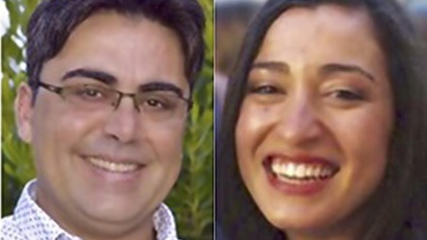 Los dos ediles de Blanca Puede Francisco Javier Rodríguez Molina y Soledad Ríos Ramos