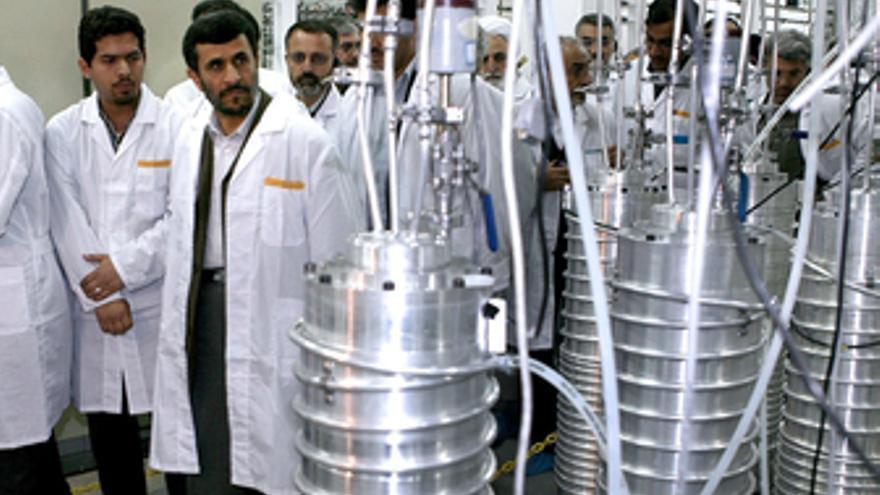Centrifugadoras iraníes en la central de Natanz