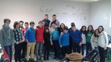 Los estudiantes vascos que participan en el programa europeo contra el ciberacoso.