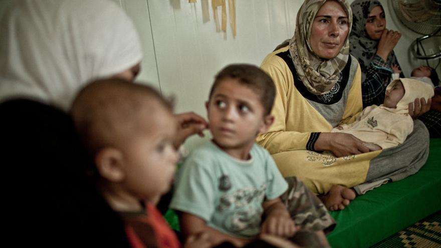 Nefel Nasser, refugiada siria en el campo de Za'atari, Jordania/ Pablo Tosco/ Intermón Oxfam