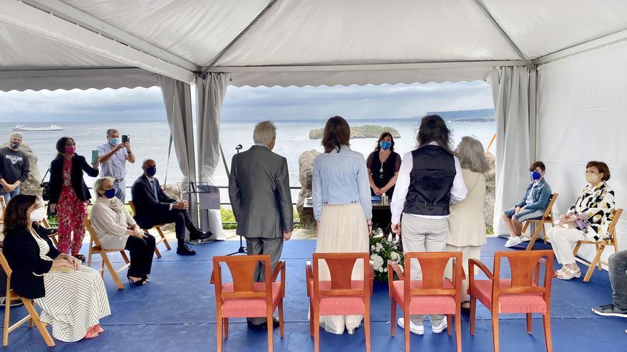 Carpa celebración boda en Palacio Magdalena en Santander