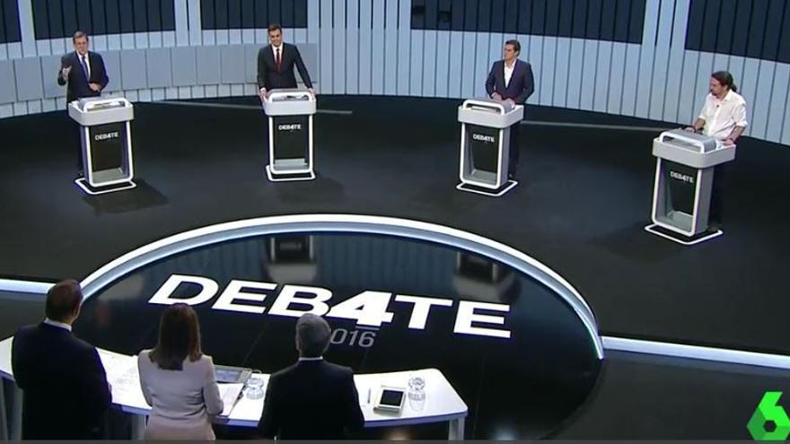 Debate de los candidatos a la presidencia del Gobierno el 13 de junio en La Sexta.