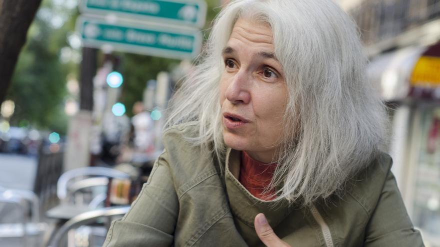 Belén Gopegui durante la entrevista con eldiario.es/ Foto: David Conde