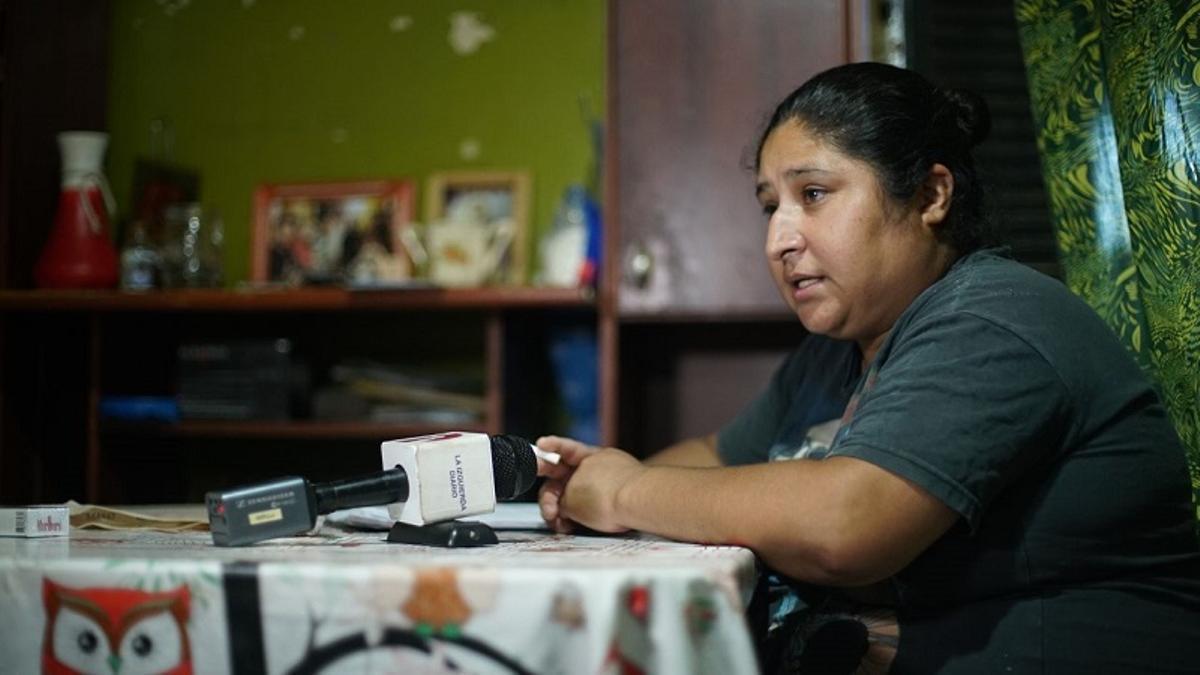 Ivone Kukoc, madre de Pablo (18). Chochabar le disparó mientas huía tras haber robado a un turista en La Boca.