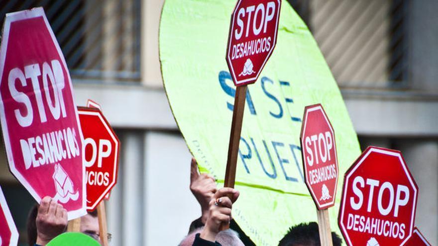 Imagen de archivo de una protesta contar los deshaucios.