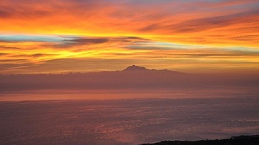 Amanecer contemplado desde Los Cancajos (Breña Baja).