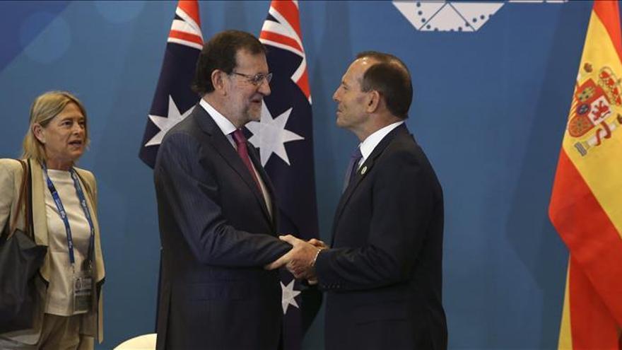Rajoy inicia agenda en Brisbane con una reunión con su homólogo de Australia