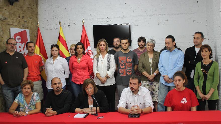 Marga Sanz junto a los miembros de su candidatura