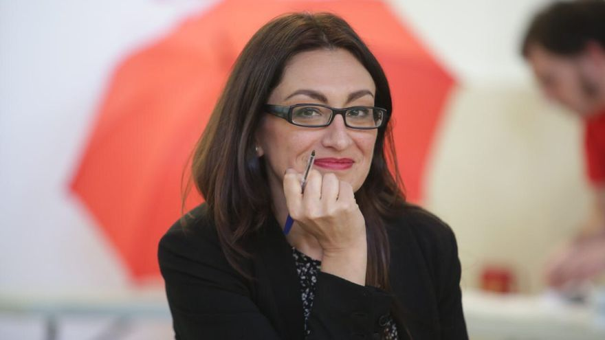La candidata de IU a la Comunidad de Madrid, Sol Sánchez.