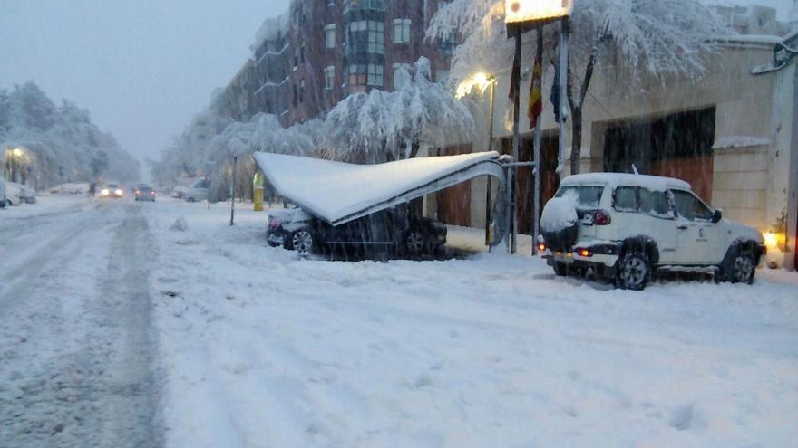 Imagen del temporal en Almansa (Albacete)