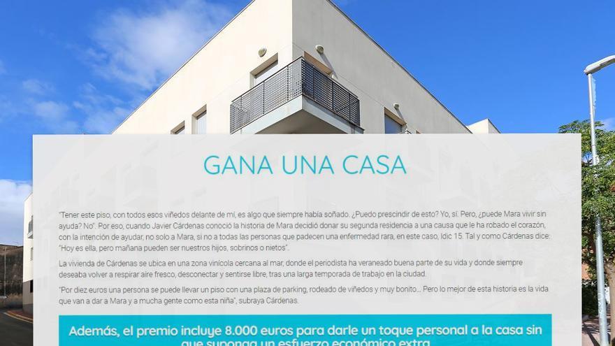 Texto promocional de la casa publicado en la web unacasaunavida.es