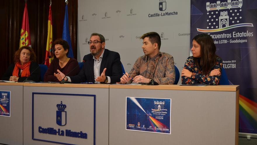 Presentación de los XXXI Encuentros Estatales LGTBI+ que este año se celebran en Guadalajara