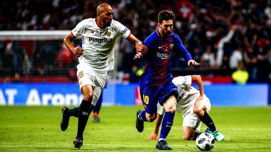 Mercado y Messi, en la final de la Copa del Rey 2018