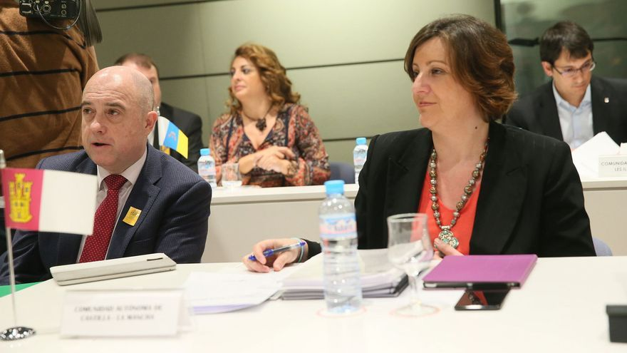 Patricia Franco y Francisco Rueda en la Conferencia Sectorial de Empleo