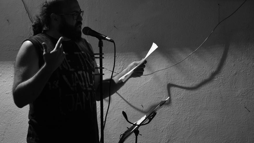 David Trashumante, durante el recital | N.C.
