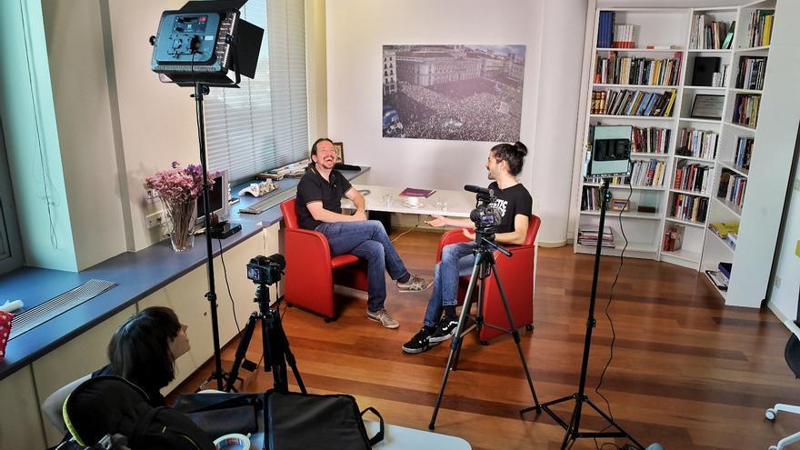 Pablo Iglesias, durante una entrevista con el 'youtuber' Fortfast.