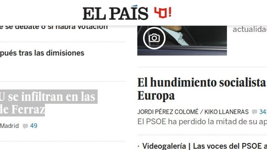 """Información de El País: """"Votantes de Podemos e IU se infiltran en las protestas en las puertas de Ferraz"""""""