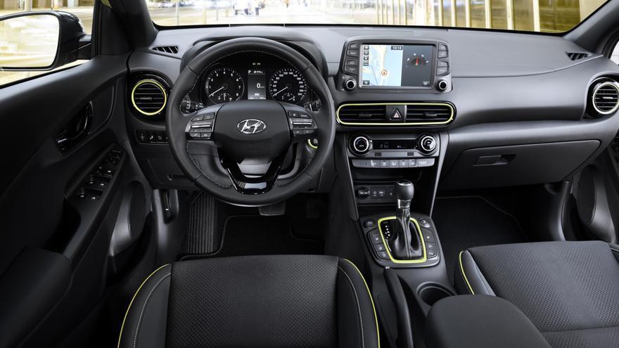 El interior del nuevo Hyundai Kona.