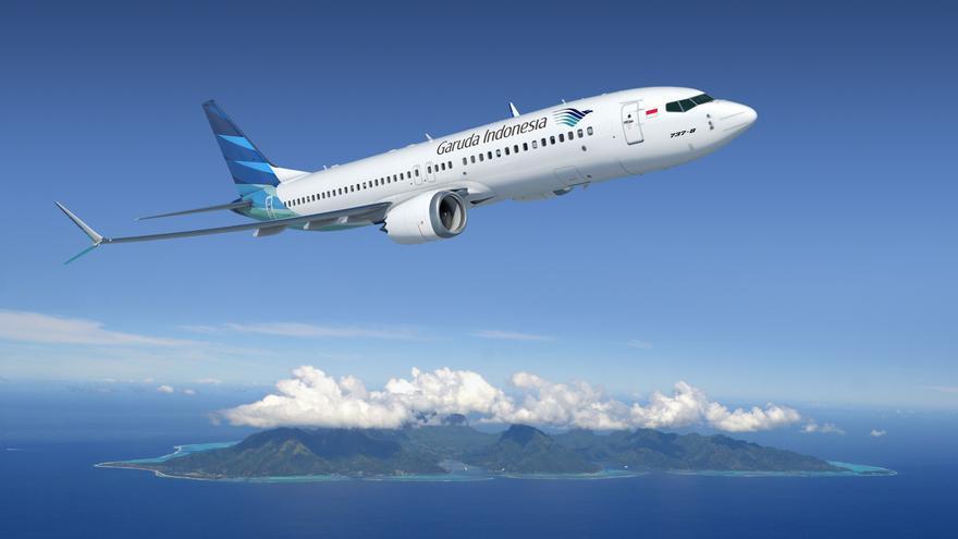 Un Boeing 737 MAX en una foto promocional del la compañía.