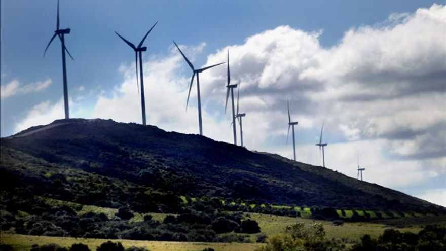 Vista general de un parque eólico. / Efe
