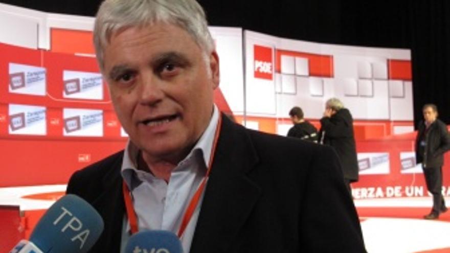 José Miguel Pérez participa este sábado en la convención socialista de Zaragoza.