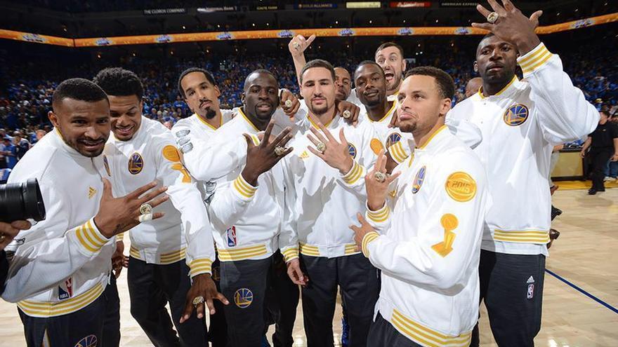 Los Warriors, campeones de la temporada pasada y equipo de moda de la NBA