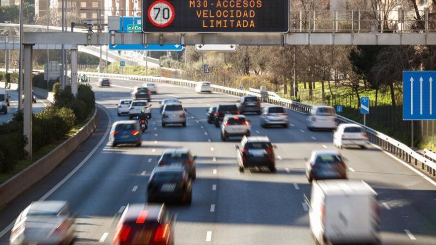 Desactivados mañana en Madrid los límites de velocidad por alta contaminación
