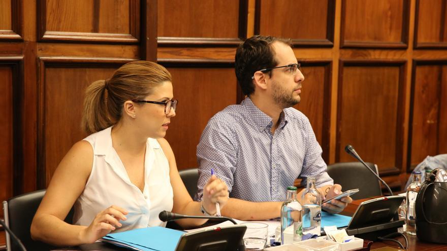 Los consejeros de Podemos en el Cabildo de Gran Canaria Ylenia Pulido y Miguel Montero