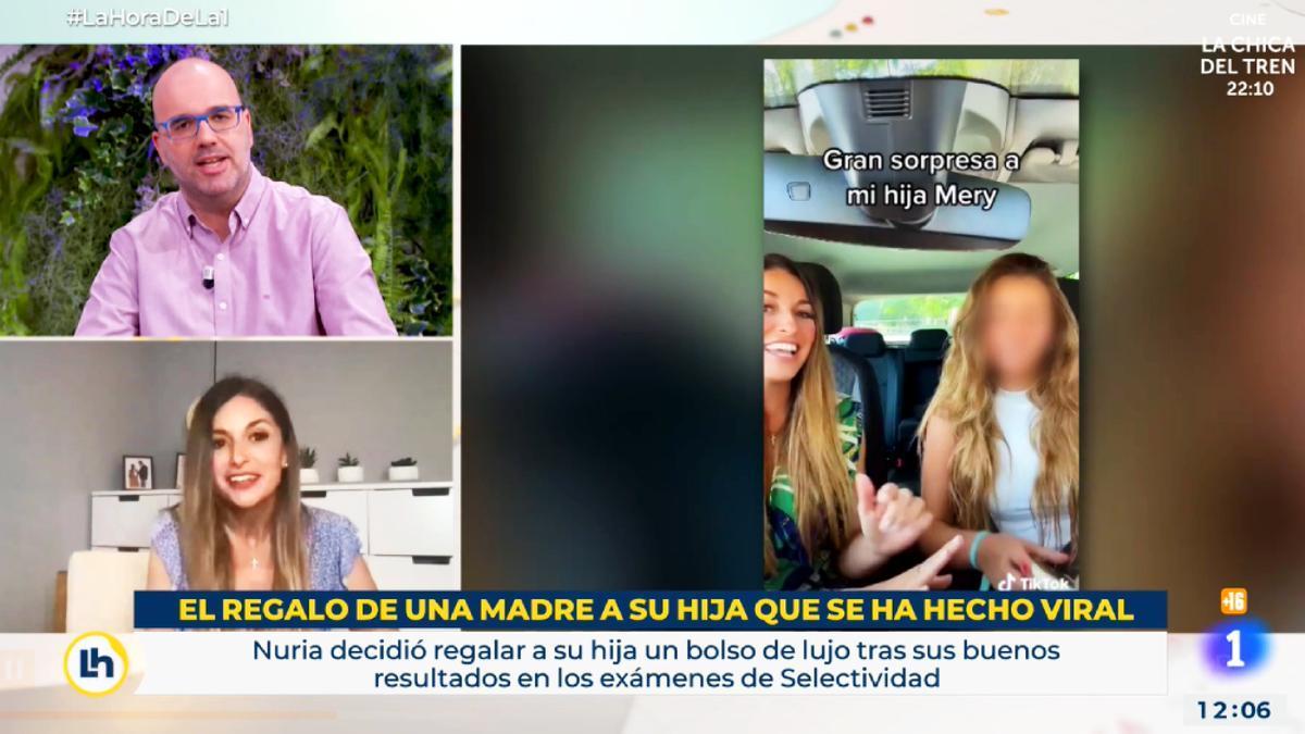 Nuria Pajares, entrevistada en 'La hora de La 1'