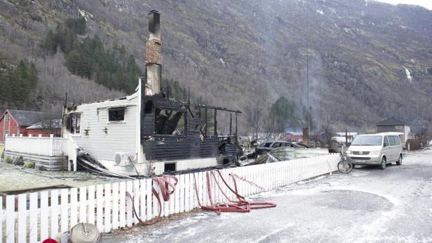 Un incendio destruye parte de la ciudad histórica Lærdalsøyri