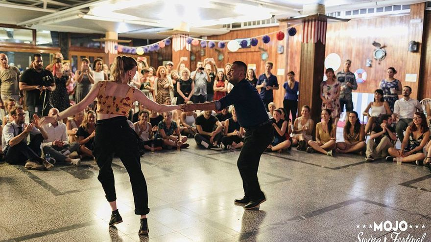 Momento de baile durante el Mojo Swing Festival 2017