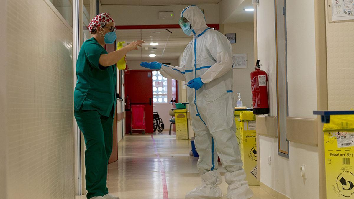 Interior del hospital Reina Sofía.