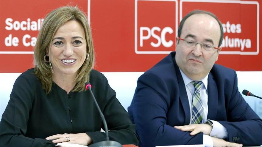 El líder del PSC resalta las convicciones y fortaleza política de Chacón
