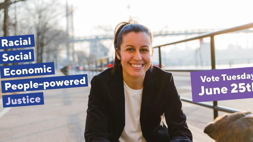 Tiffany Cabán, candidata demócrata a fiscal de distrito en Queens.