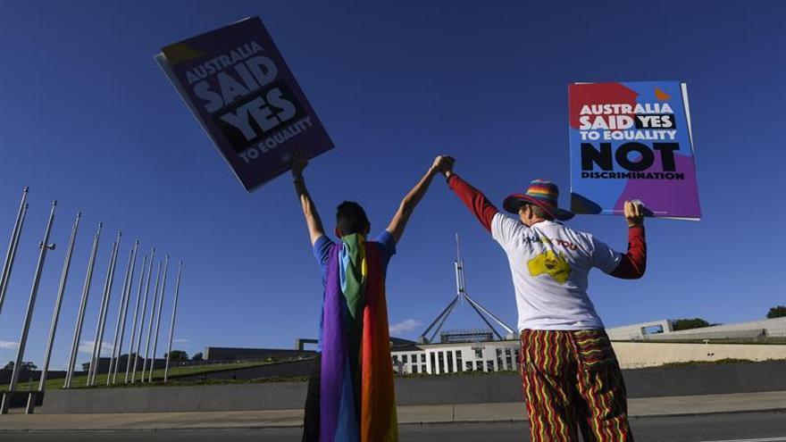 El Parlamento australiano aprueba el proyecto de ley sobre bodas homosexuales