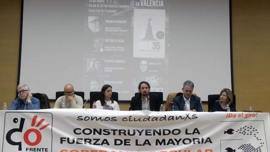 Pablo Iglesias en el acto celebrado este miércoles en Valencia
