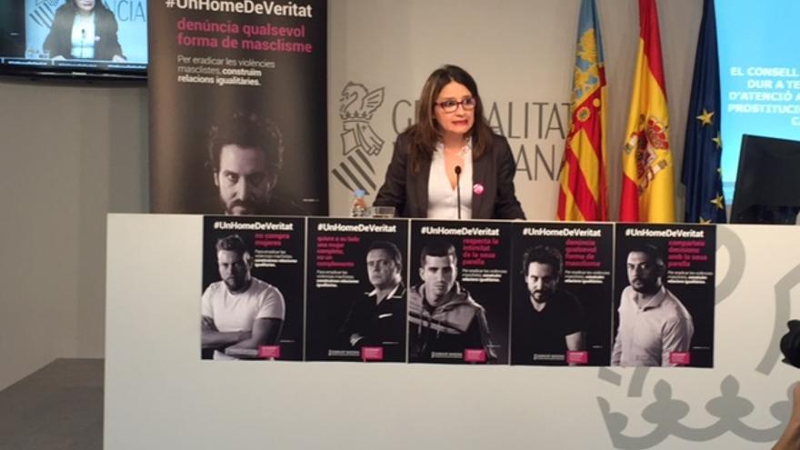 Mónica Oltra, en una rueda de prensa tras la reunión del gobierno valenciano.