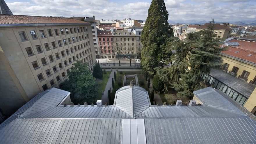 Concluye la renovación de la cubierta del antiguo Archivo General de Navarra