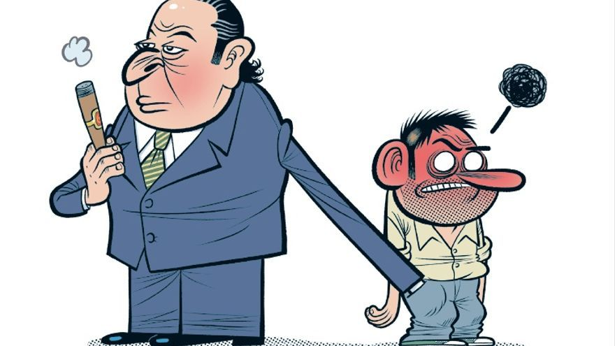 Viñeta de 'Corrupcionario'. Bernardo Vergara. Random Cómics.