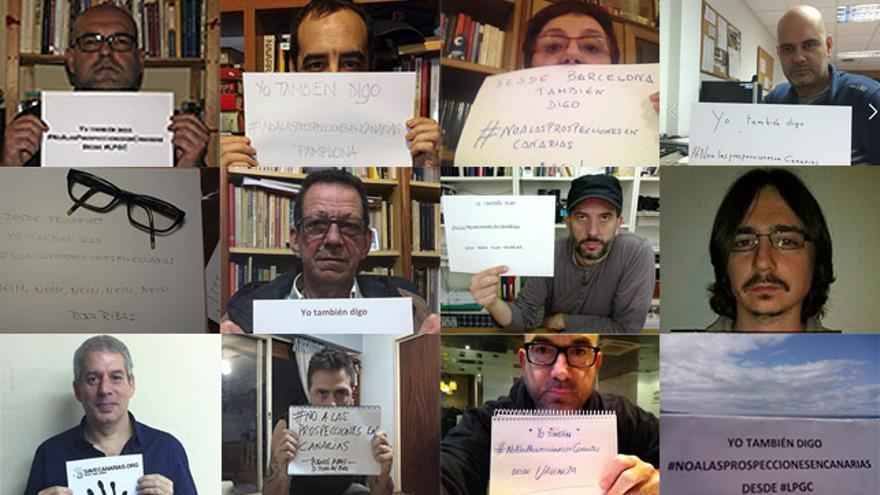Diversos escritores, blogueros y periodistas que residen en distintas partes del mundo se han sumado en los últimos días a la campaña surgida en las redes sociales 'Yo también digo #NoAlasProspeccionesenCanarias'.