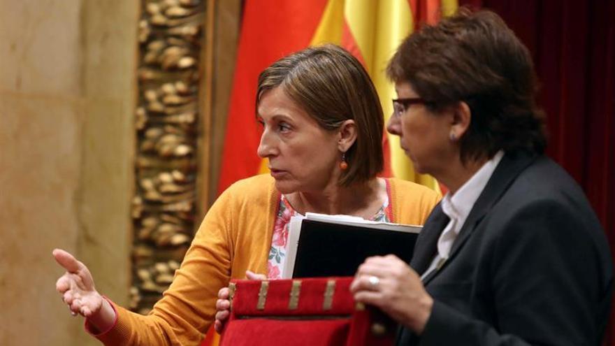 Forcadell, en el Parlament