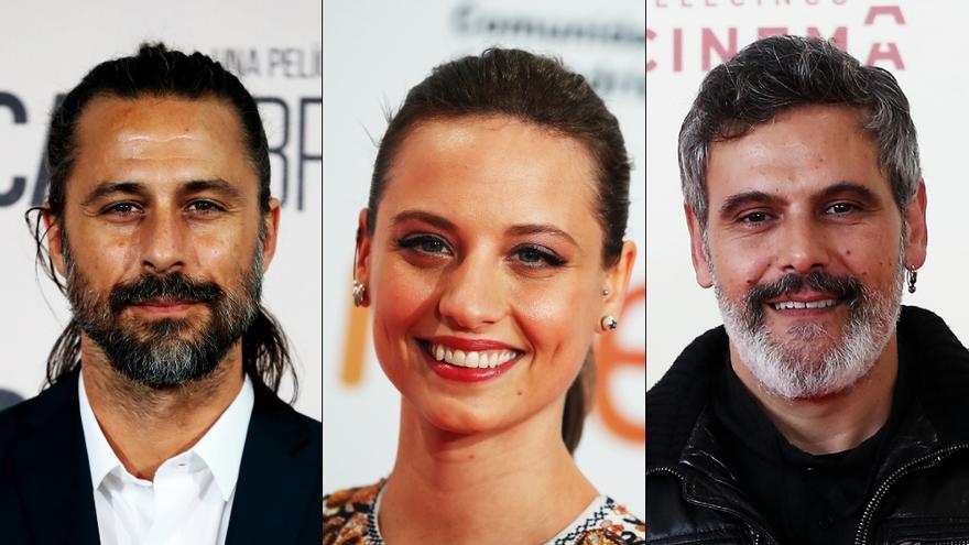 Hugo Silva, Michelle Jenner y Roberto Enríquez