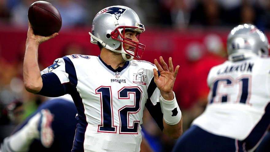 Tom Brady, estrella de los campeones New England Patriots