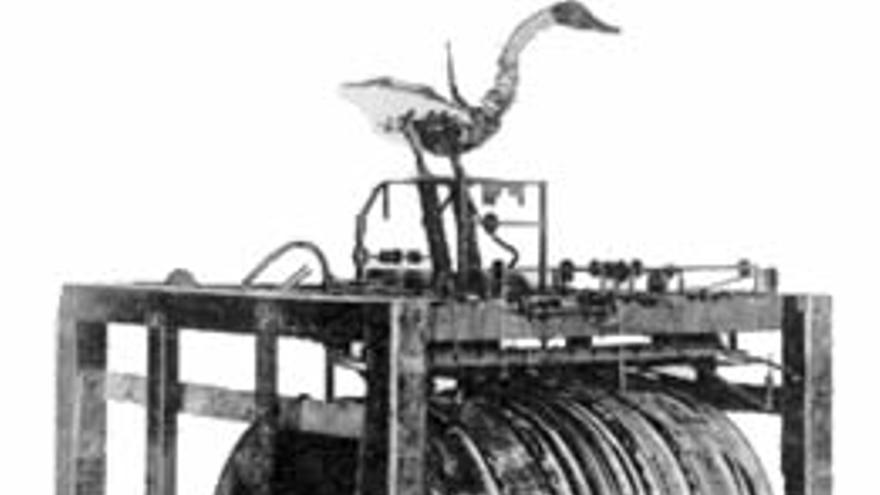 La figura original del 'pato con aparato digestivo' de Vaucanson no se ha conservado hasta nuestros días