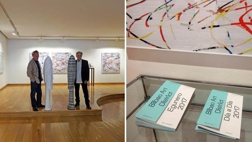 Los hermanos Roscubas exponen una muestra de su pintura digital en la sala Lumbreras de Bilbao